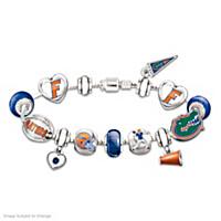 Go Gators! #1 Fan Charm Bracelet