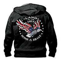 Home Of The Brave Men's Hoodie Size Medium (38-40)