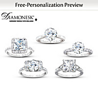 Diamonesk Personalized Bridal Ring