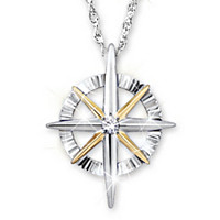 Light Of Faith Diamond Pendant Necklace
