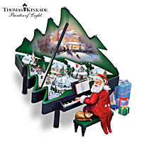 Thomas Kinkade Santa\'s Grand Christmas Musical Sculpture
