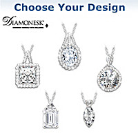 Diamonesk Pendant Necklace