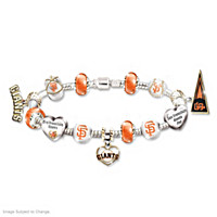 Go Giants! #1 Fan Charm Bracelet
