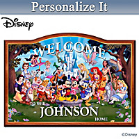 Magic Of Disney Personalized Welcome Sign
