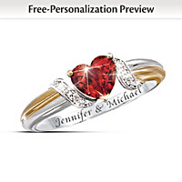 Heart\'s Embrace Personalized Ring