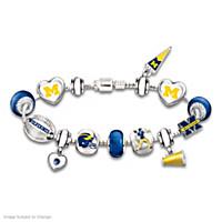 Go Wolverines! #1 Fan Charm Bracelet
