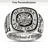 NYPD Brotherhood Of Honor Personalized Ring