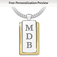 My Father, My Hero Personalized Pendant Necklace