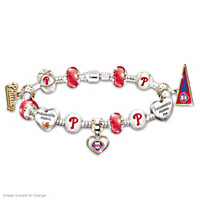 Go Phillies! #1 Fan Charm Bracelet