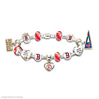 Go Red Sox! #1 Fan Charm Bracelet