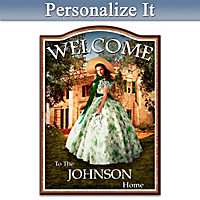 Home To Tara: Gone With The Wind Personalized Welcome Sign