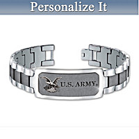 U.S. Army Personalized Men\'s Bracelet