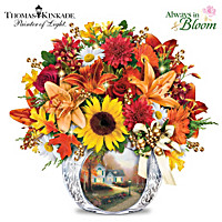 Thomas Kinkade Autumn\'s Golden Glow Table Centerpiece
