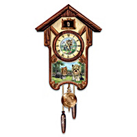 Youthful Yorkies Cuckoo Clock