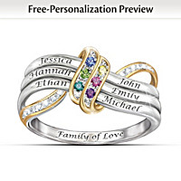 Our Family\'s Forever Love Personalized Ring