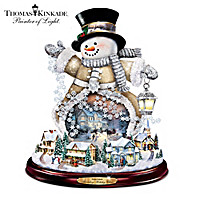 Thomas Kinkade Spreading Holiday Cheer Sculpture