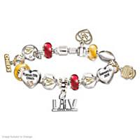 Go Chiefs! #1 Fan Super Bowl Charm Bracelet