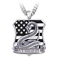 Don\'t Tread On Me Pendant Necklace