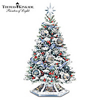 Thomas Kinkade Reflections Of The Season Tabletop Tree