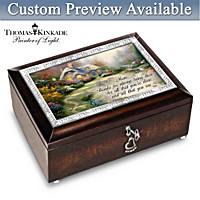 Thomas Kinkade In Mother\'s Heart Personalized Music Box