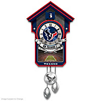 Houston Texans Cuckoo Clock
