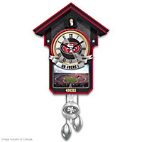 San Francisco 49ers Cuckoo Clock