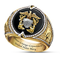 U.S. Navy Honor, Courage and Commitment Ring