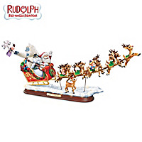 Rudolph\'s Christmas Journey Sculpture