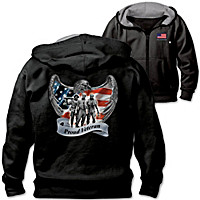 Veterans Pride And Brotherhood Men's Hoodie
