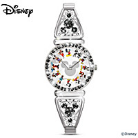 Disney Mickey Mouse Through The Years Women\'s Watch