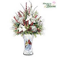 Winter Cardinals Table Centerpiece