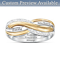 Forever Love Personalized Diamond Ring