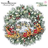 Thomas Kinkade A Very Merry Welcome Wreath