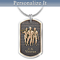 Pride And Brotherhood Personalized Pendant Necklace