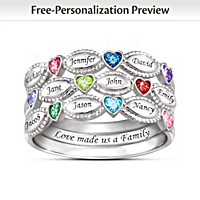 My Family, My Love Personalized Ring Set