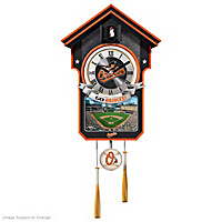 Baltimore Orioles Cuckoo Clock