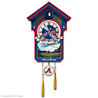 Atlanta Braves Cuckoo Clock