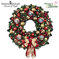Thomas Kinkade Season Of Splendor Wreath