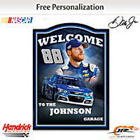 Dale Earnhardt Jr. Personalized Welcome Sign
