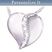 Our Family Of Love Personalized Diamond Pendant Necklace