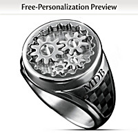 Gearhead Personalized Ring