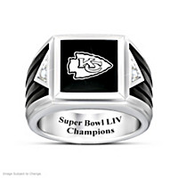 Chiefs Super Bowl LIV Champions Ultimate Fan Diamond Ring