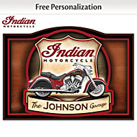 Indian Motorcycle Personalized Welcome Sign