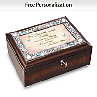 My Granddaughter, You\'re A Blessing Personalized Music Box