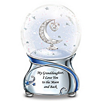 Granddaughter, I Love You To The Moon Glitter Globe