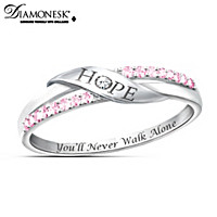 organization cut from princess awareness udon ring support of jewelry rings cancer breast black women s wholesale for diamond product female pink