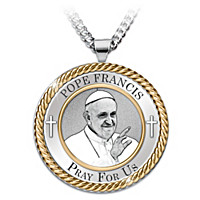 Pope Francis Pray For Us Pendant Necklace