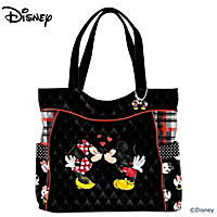 Mickey And Minnie Love Story Tote Bag