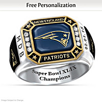 Patriots Pride Personalized Commemorative Ring