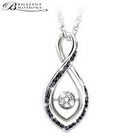Midnight Magic Diamond Pendant Necklace